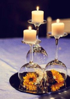 #Flower + #Candle + #WineGlass can look amazing on your #dinner table when used in this way! #DogtasUK