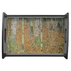 <The Birch Wood> by Gustav Klimt Food Tray