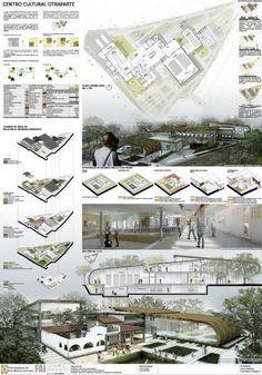 10 Ejemplos de panel resumen de exteriores #landscapearchitecture