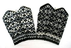 Knitted mittens Hand knitted gloves Warm by MittensSocksShop