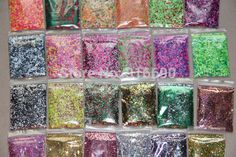 24 colors Holographic & Neon Solvent Resistant Glitter Sample set for Nail polish Making,Nail Art and Glitter Crafts-in Stickers & Decals from Health & Beauty on Aliexpress.com   Alibaba Group