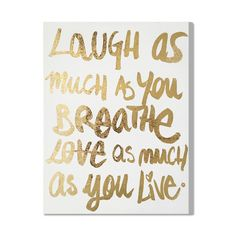 Found it at Joss & Main - Laugh/Love Canvas Print