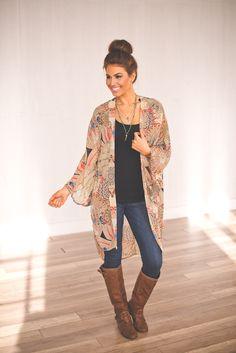 Dottie Couture Boutique - Boho Long Kimono, $42.00 (http://www.dottiecouture.com/boho-long-kimono/)