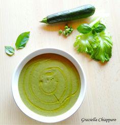 Vellutata+con+zucchine,+piselli+e+lattuga+|+Ricetta
