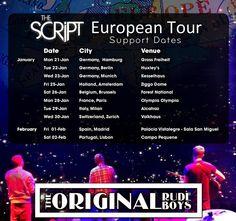 The Script + The Original Rudeboys iniciaron ayer su tour europeo en Hamburgo.