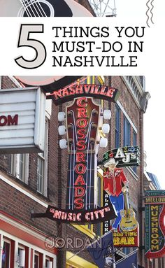Plan Your Trip to Nashville: 5 Must-Do's Top 5 Things to do in Nashville // What to do in Nashville Girls Trip Nashville, Weekend In Nashville, Nashville Vacation, Visit Nashville, Tennessee Vacation, Nashville Things To Do, Nashville Attractions, Tennessee Attractions, Nashville Downtown