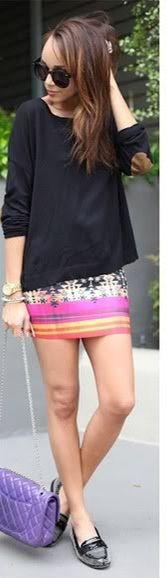 Printed skirt!