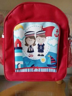 Happy sailor kids backpack