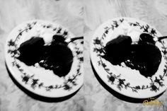 Volcán de  chocolate  casero  con  helado  de  crema  americana