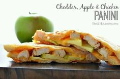 Chicken, cheddar and apple panini