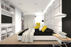 Best Interior Home Design Bedroom Design Ideas ~ http://www.lookmyhomes.com/awesome-home-interior-design-ideas-32-photos-by-tarnowskie-gory/