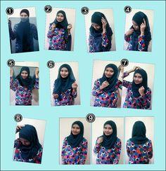 Tutorial Hijab Paris Semi Resmi