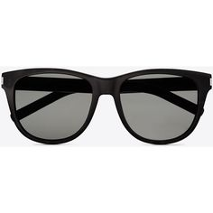 Saint Laurent Classic 3 Sunglasses In Black Acetate With Brown Lenses ($310) ❤ liked on Polyvore featuring accessories, eyewear, sunglasses, glasses, black, yves saint laurent glasses, over sized sunglasses, oversized glasses, yves saint laurent and yves saint laurent sunglasses