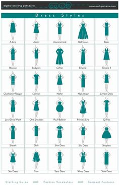 dress styles dress style/ clothing guide/ fashion vocabulary/ garment features a.Dress Style/ Clothing Guide/ Fashion Vocabulary/ Garment Features- Tap the link now to see our super collection of accessories made just for you! Fashion Terminology, Fashion Terms, Fashion 101, Fashion Guide, Fashion Ideas, Fashion Style Guide, Fashion Styles, Kids Fashion, Fashion Infographic