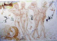 Stultae et prudentes Filiae (Sirach 7:26), 1967 by Salvador Dali. Expressionism, Symbolism. religious painting