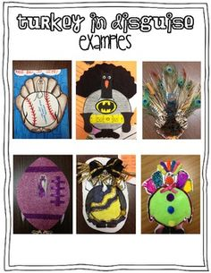 Turkey in Disguise {A Take Home Family Project} for Little Learners.