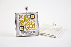 QR Code Custom Handmade Pet Tag  - not sure how well this would work, but interesting idea
