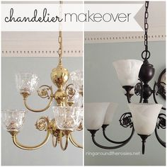 Diy Revamp An Outdated Chandelier Chandeliers Painted And Brass