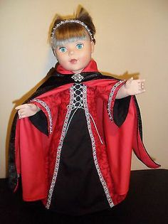"American Girl & My Life18"" Doll Clothes Medieval Dress & Cape - OOAK - Hand Made"