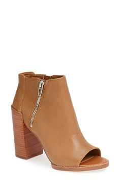 DV by Dolce Vita 'Mercy' Peep Toe Bootie (Women) available at #Nordstrom Size: 8.5 Color: Honey Leather $86.39