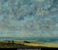 Artist Gustave Courbet, 'The Sea', c.1872