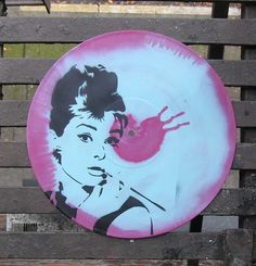 Vinyl wall art.  Maybe add Audrey quote