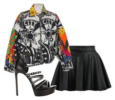 """""""Sem título #5892"""" by ana-sheeran-styles ❤ liked on Polyvore featuring Versace and Yves Saint Laurent"""