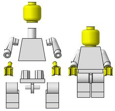 Anatomy of a Minifig- for minifig take home bar