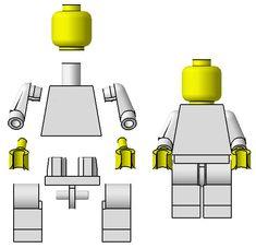 Resultado de imagen de lego man parts