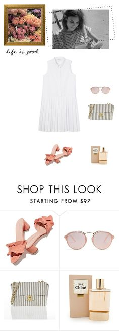 """""""Summer days"""" by sarah0-0 ❤ liked on Polyvore featuring Loeffler Randall, Christian Dior, Chloé and Monki"""