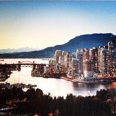 The Burrard St. Bridge in Vancouver, BC.