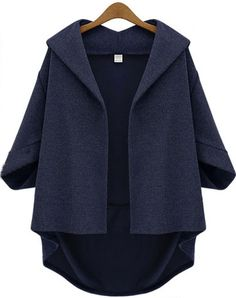 Shop Navy Lapel Batwing Half Sleeve Loose Coat online. Sheinside offers Navy Lapel Batwing Half Sleeve Loose Coat & more to fit your fashionable needs. Free Shipping Worldwide!
