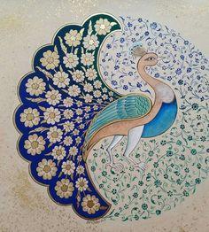 Ebru Yalkın tezhip ve minyatür sanatları/Türkiye Islamic Art Pattern, Pattern Art, Madhubani Art, Peacock Art, Indian Folk Art, Madhubani Painting, Iranian Art, Turkish Art, Calligraphy Art