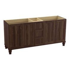 Kohler Damask Terry Walnut (Common: 72-In X 22-In) Traditional Bathroo
