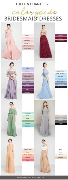 bridesmaid dresses color inspiration for 2018