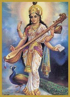 Goddess Saraswathi is the Hindu goddess of education, music, arts, knowledge and learning. Find a good collection of Goddess Saraswati images & wallpapers. Saraswati Mata, Saraswati Goddess, Shiva Shakti, Ganesha Art, Krishna Art, Krishna Images, Om Namah Shivaya, Hindus, Saraswathi Devi