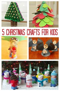 These Christmas crafts for kids are fun and easy to make. The kids will have a ball and all the craft items required are easy to access. /  Smart Party Planning