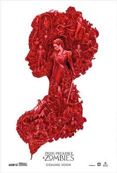 Постер - Гордость, предубеждение и зомби: 407x604 / 56 Кб