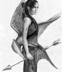 katniss from the hunger games.. this is a very good drawing