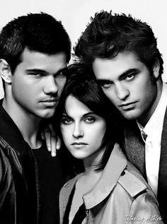Taylor Lautner, Kristen Stewart and Robert Pattinson.