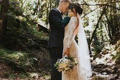 """""""I knew the INCA was my dress the moment I saw it. I knew before I even thought Sam and I would get married"""" GLL Bride, Kate wears the INCA. You can read about these lovebirds wedding live on the GLL Blog. Captured by @sethandkaiti #graceloveslace #theuniquebride #myGLL"""