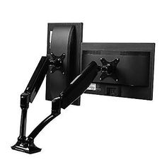 Dual Monitor Mount Lcd Screens Arm Desk Stand Fully Adjustable Upto 27 Inches
