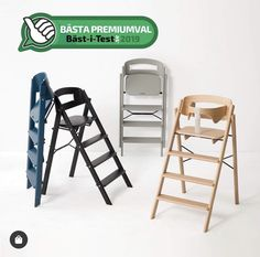 Klapp foldable high chair, inc safety rail. Paint Meaning, Kids Up, Forest Stewardship Council, Table Height, Kids Corner, Folding Chair, Keep It Cleaner, Bar Stools, Cool Designs