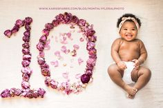 How to take a monthly floral photo of your baby!   www.karissfarris.com/blog/monthlyfloralphoto  instagram.com/karissfarris  #flowers #monthlyphoto #newborn #baby #photography #newbornphotography