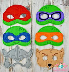 Ninja turtle mask, ninja turtle birthday party, party favors, dress up fun, ninja turtle photo boothprops by MyWonderlandBoutique on Etsy