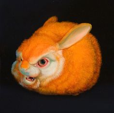 For the past 20 years, the work of Laurie Hogin has consisted primarily of allegorical paintings of mutant plants and animals in languishing, overgrown. All About Rabbits, Candy Art, Eye Candy, Chicago Artists, Bizarre, Artist Profile, Pop Surrealism, Modern Artists, Happy Animals