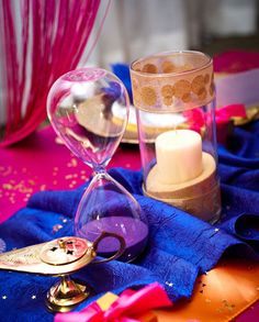 genie in a bottle princess jasmine birthday party centerpiece