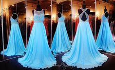 This pretty blue dress is so sweet and elegant with its sweetheart illusion neckline. The Lace bodice runs into a beautiful crystal choker. So pretty and at Rsvp Prom and Pageant, Atlanta, Georgia Grad Dresses Long, Pretty Prom Dresses, A Line Prom Dresses, Pageant Dresses, Homecoming Dresses, Cute Dresses, Beautiful Dresses, Evening Dresses, Formal Dresses