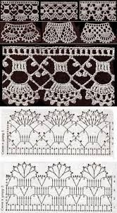 How to crochet a flower . How to crochet a flower with caterpillar petals. Crochet Edging Patterns, Crochet Lace Edging, Crochet Motifs, Crochet Borders, Crochet Diagram, Lace Patterns, Crochet Designs, Crochet Flowers, Filet Crochet