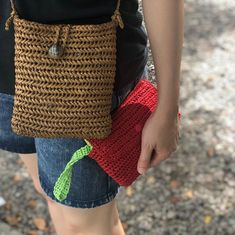 Crochet Clutch, Summer Bags, Jute, Diy And Crafts, Etsy, Knitting, My Style, Fabric, Pattern